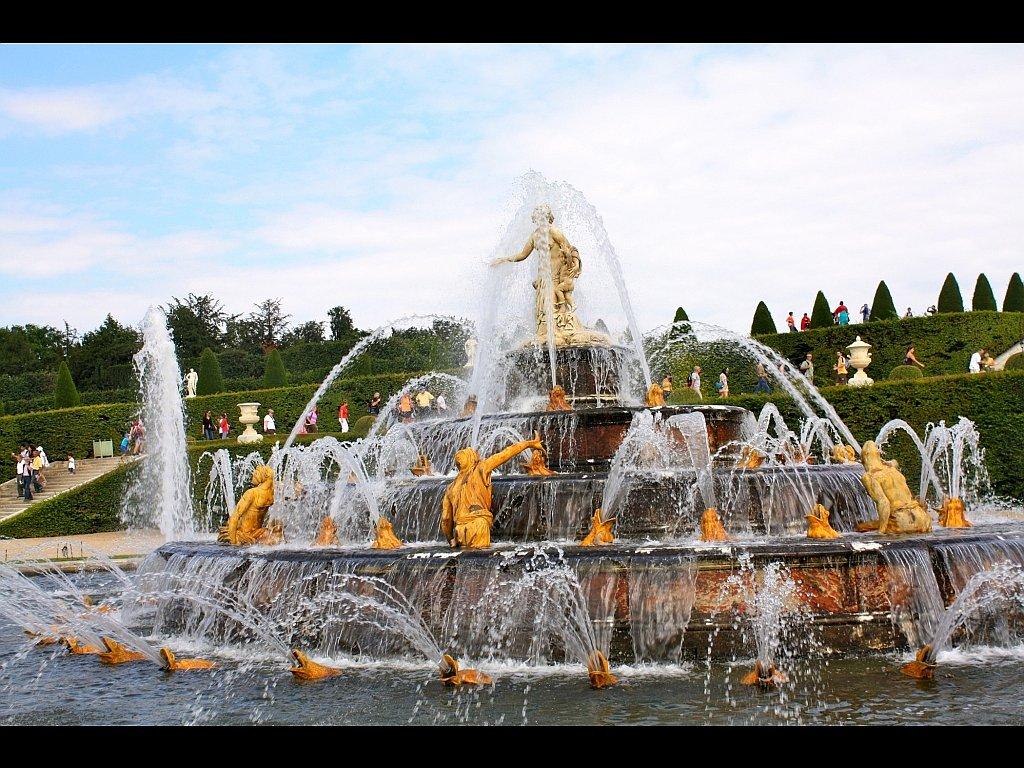 Ecran plus fontaine dans les jardins du ch teau de - Les jardins du chateau de versailles ...